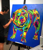 English Mastiff Matted Prints & Canvas Giclées - MULTI-COLOR DOG PRINTS