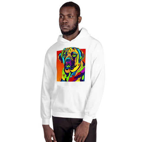 Bull Mastiff Men Hoodie - MULTI-COLOR DOG PRINTS