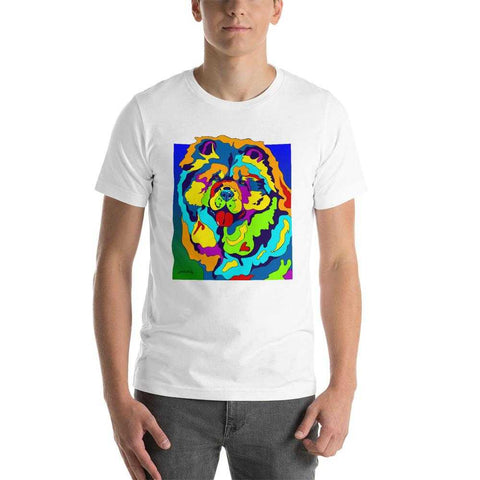 Chow Short-Sleeve Men T-Shirt - MULTI-COLOR DOG PRINTS