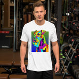 Airdale Short-Sleeve Men T-Shirt - MULTI-COLOR DOG PRINTS
