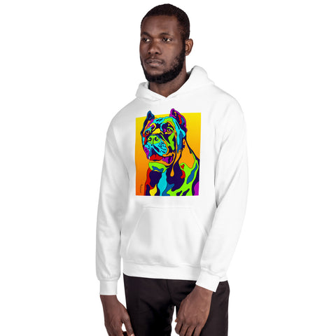 Cane Corso Men Hoodie - MULTI-COLOR DOG PRINTS