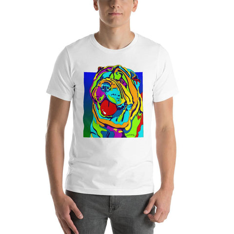 Sharpe Short-Sleeve Men T-Shirt - MULTI-COLOR DOG PRINTS