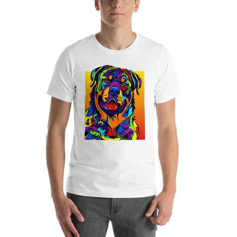 Rottweiler Short-Sleeve Men T-Shirt - MULTI-COLOR DOG PRINTS