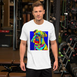 Brussels Short-Sleeve Men T-Shirt - MULTI-COLOR DOG PRINTS