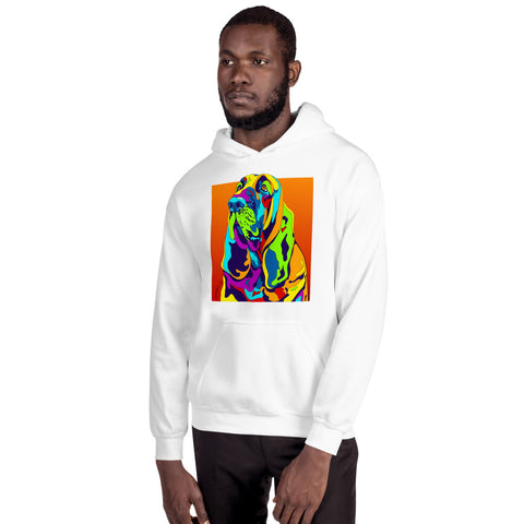 Bloodhound Men Hoodie - MULTI-COLOR DOG PRINTS