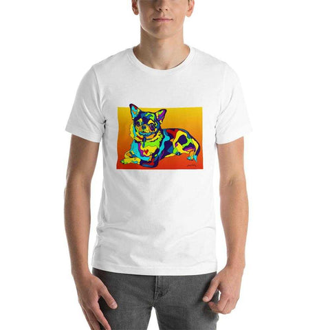 Chihuahua Short-Sleeve Men T-Shirt - MULTI-COLOR DOG PRINTS