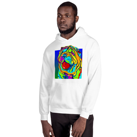 Sharpe Men Hoodie - MULTI-COLOR DOG PRINTS