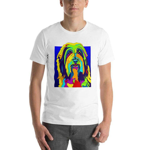 Bearded Collie Short-Sleeve Men T-Shirt - MULTI-COLOR DOG PRINTS