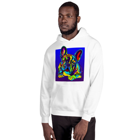 French Bulldog Men Hoodie - MULTI-COLOR DOG PRINTS