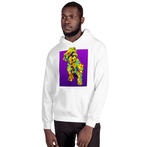 Brussel Dog Men Hoodie - MULTI-COLOR DOG PRINTS