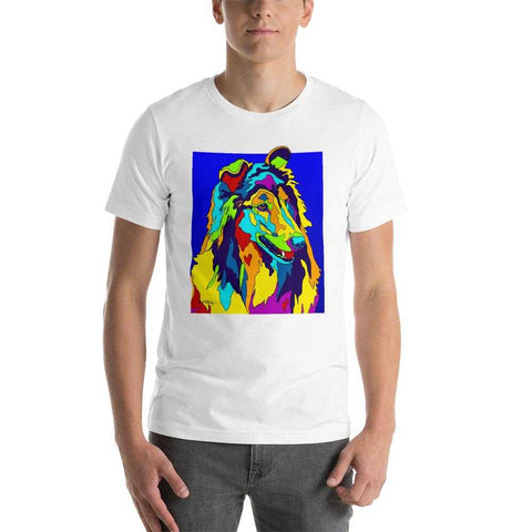 Collie Short-Sleeve Men T-Shirt - MULTI-COLOR DOG PRINTS