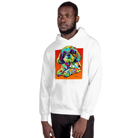 Shih Tzu Men Hoodie - MULTI-COLOR DOG PRINTS