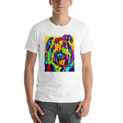 Bouvier Short-Sleeve Men T-Shirt - MULTI-COLOR DOG PRINTS