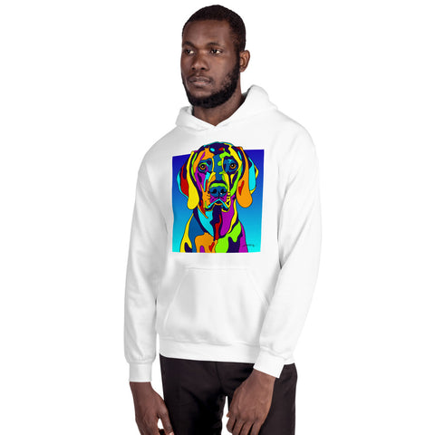 Weimaraner Men Hoodie - MULTI-COLOR DOG PRINTS