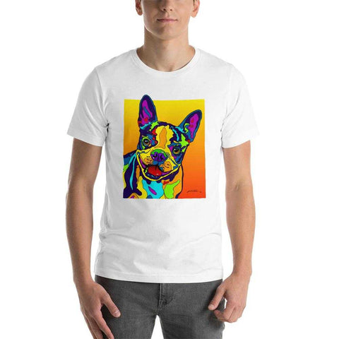 Boston Terrier Short-Sleeve Men T-Shirt - MULTI-COLOR DOG PRINTS