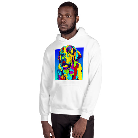 St Bernard Men Hoodie - MULTI-COLOR DOG PRINTS