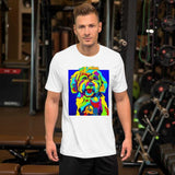Maltese Short-Sleeve Men T-Shirt - MULTI-COLOR DOG PRINTS