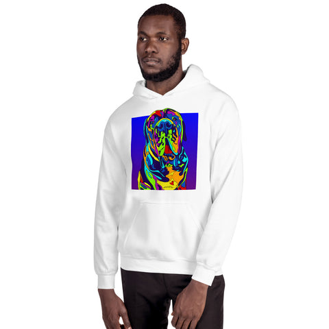 Mastiff Men Hoodie - MULTI-COLOR DOG PRINTS