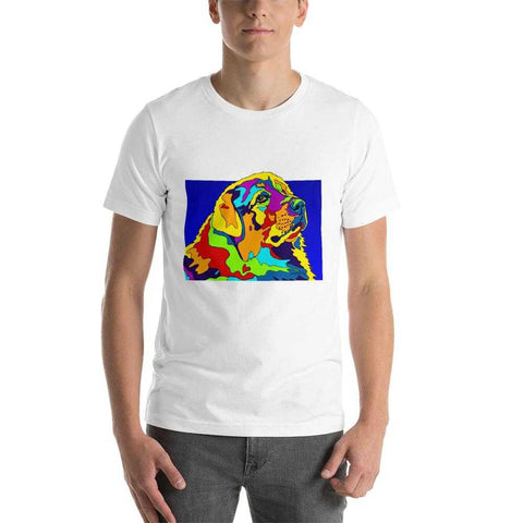 Great Pyreneese Short-Sleeve Men T-Shirt - MULTI-COLOR DOG PRINTS