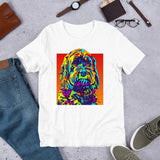 Schnoodle Short-Sleeve Men T-Shirt - MULTI-COLOR DOG PRINTS