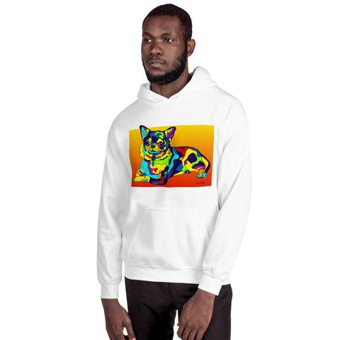 Chihuahua Men Hoodie - MULTI-COLOR DOG PRINTS