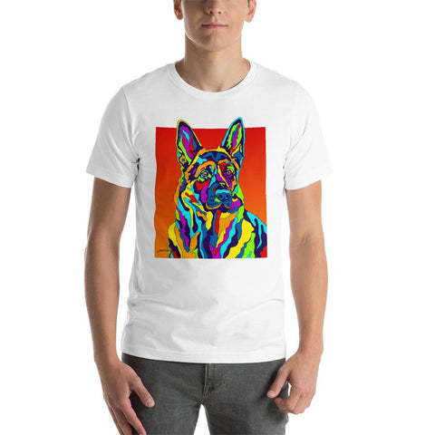 German Shepard Short-Sleeve Men T-Shirt - MULTI-COLOR DOG PRINTS