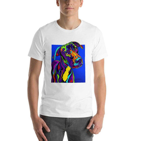 Great Dane Short-Sleeve Men T-Shirt - MULTI-COLOR DOG PRINTS
