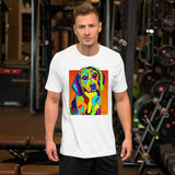 Beagle Short-Sleeve Men T-Shirt - MULTI-COLOR DOG PRINTS