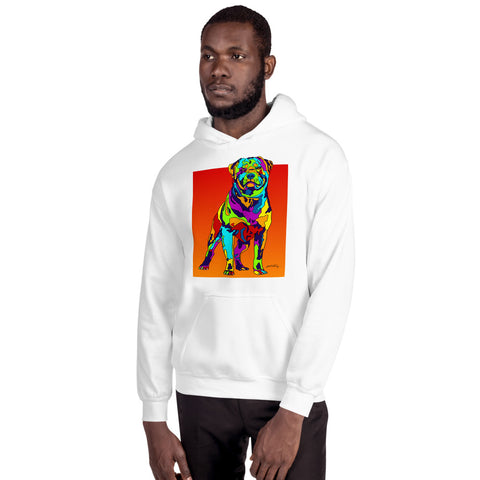 Rottweiler Men Hoodie - MULTI-COLOR DOG PRINTS