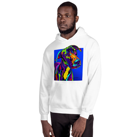 Great Dane Men Hoodie - MULTI-COLOR DOG PRINTS