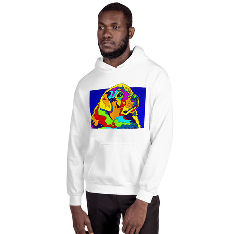 Great Pyreneese Men Hoodie - MULTI-COLOR DOG PRINTS