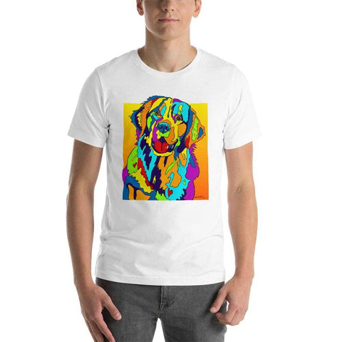 Golden Retriever Short-Sleeve Men T-Shirt - MULTI-COLOR DOG PRINTS