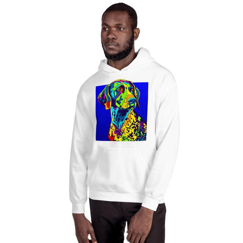 German Shorthaired Pointer Men Hoodie - MULTI-COLOR DOG PRINTS