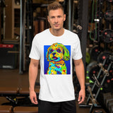 Shih Tzu Short-Sleeve Men T-Shirt - MULTI-COLOR DOG PRINTS