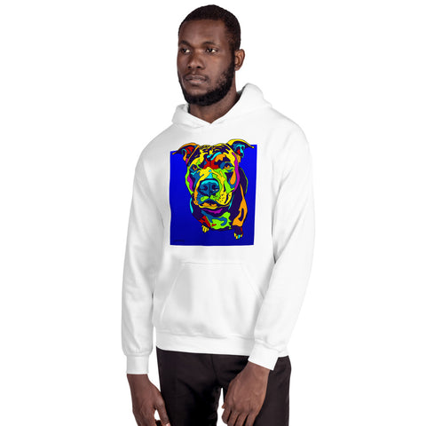 Pitbull Men Hoodie - MULTI-COLOR DOG PRINTS