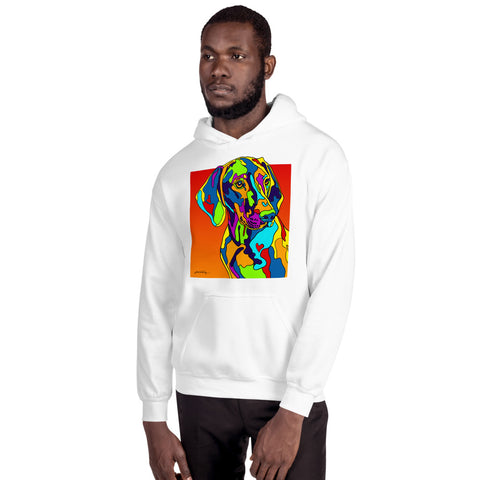 Visula Men Hoodie - MULTI-COLOR DOG PRINTS
