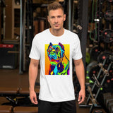 Cane Corso Short-Sleeve Men T-Shirt - MULTI-COLOR DOG PRINTS