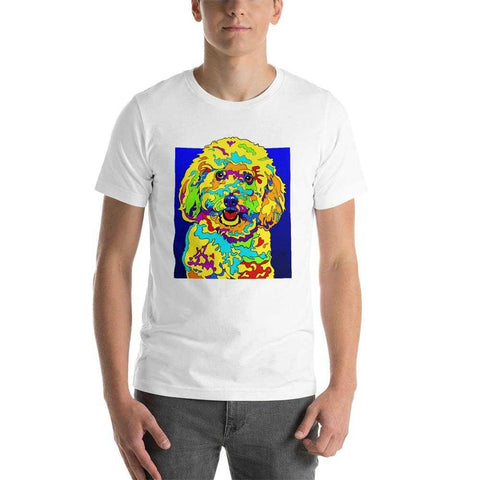 Bichon Short-Sleeve Men T-Shirt - MULTI-COLOR DOG PRINTS