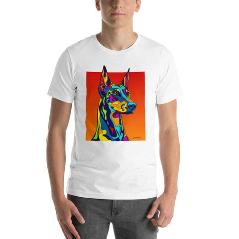Doberman Pinscher Short-Sleeve Men T-Shirt - MULTI-COLOR DOG PRINTS