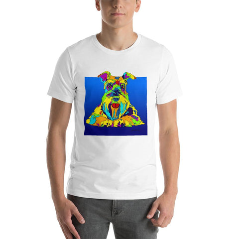 Schnauzer Short-Sleeve Men T-Shirt - MULTI-COLOR DOG PRINTS