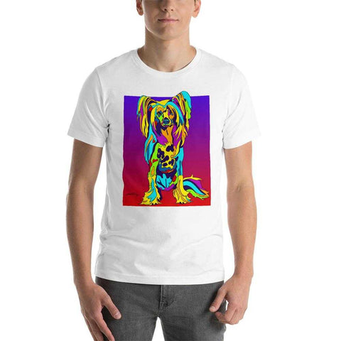Chinese Crested Short-Sleeve Men T-Shirt - MULTI-COLOR DOG PRINTS