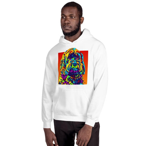 Schnoodle Men Hoodie - MULTI-COLOR DOG PRINTS