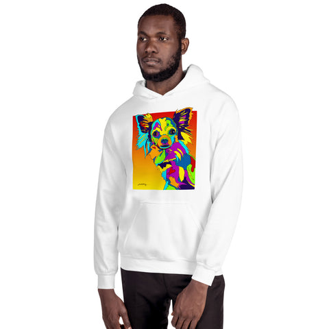 Long Hair Chihuahua Men Hoodie - MULTI-COLOR DOG PRINTS