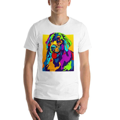 Newfoundland Short-Sleeve Men T-Shirt - MULTI-COLOR DOG PRINTS