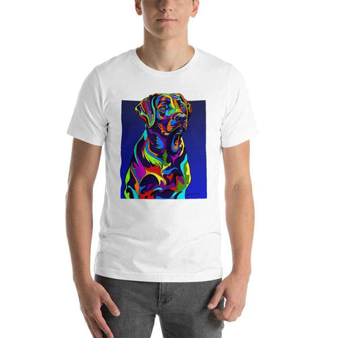 Labrador Short-Sleeve Men T-Shirt - MULTI-COLOR DOG PRINTS