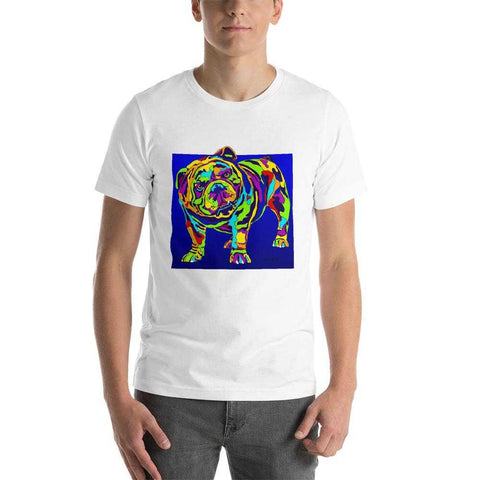 English Bulldog Short-Sleeve Men T-Shirt - MULTI-COLOR DOG PRINTS