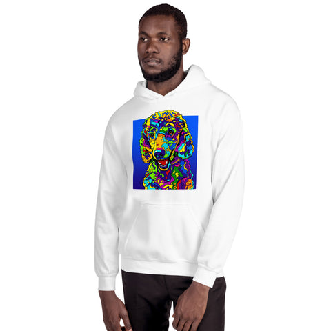 Poodle Men Hoodie - MULTI-COLOR DOG PRINTS