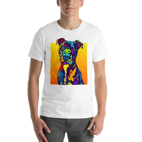 Pittbull Short-Sleeve Men T-Shirt - MULTI-COLOR DOG PRINTS