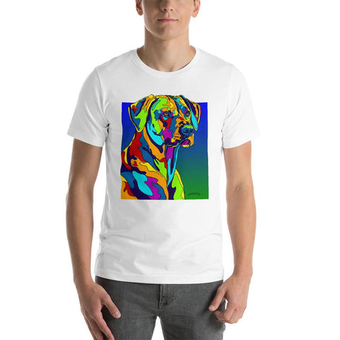 Rhodesian Ridgeback Short-Sleeve Men T-Shirt - MULTI-COLOR DOG PRINTS