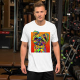 Mix Short-Sleeve Men T-Shirt - MULTI-COLOR DOG PRINTS